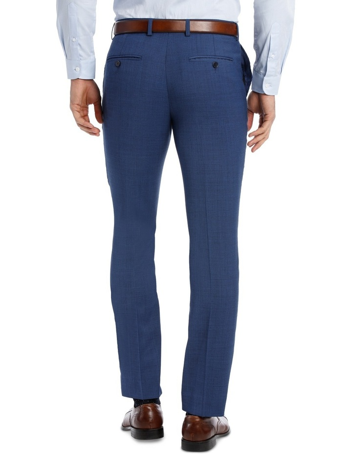 Slim Bright Blue Textured Suit Trouser image 3