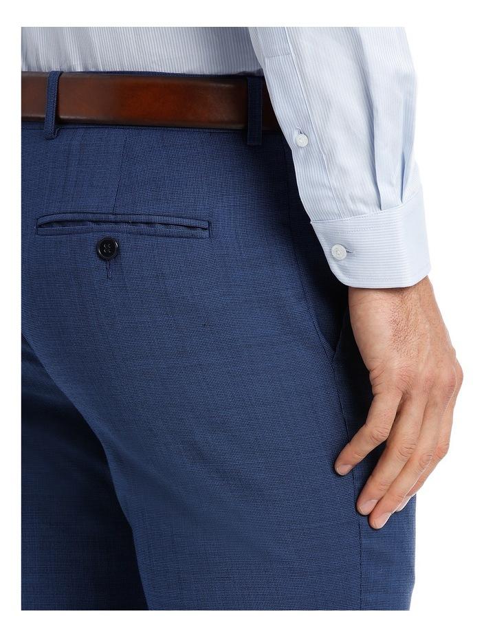 Slim Bright Blue Textured Suit Trouser image 4