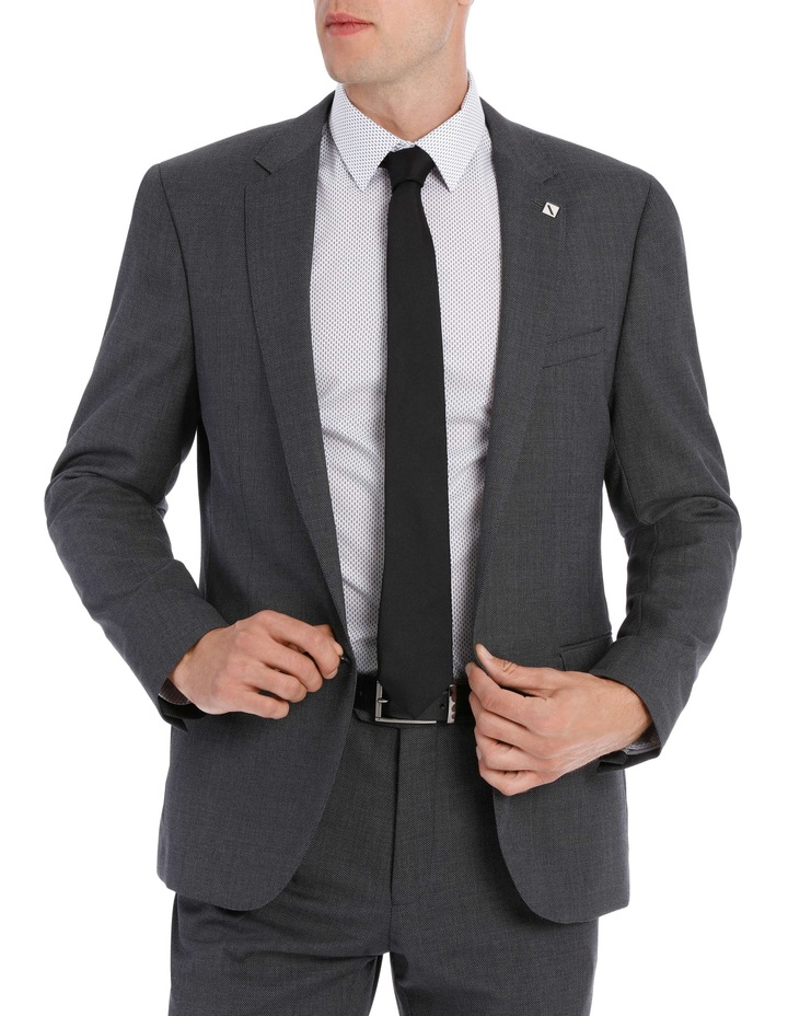 Grey Birdseye Suit Jacket 5Q7407 image 1