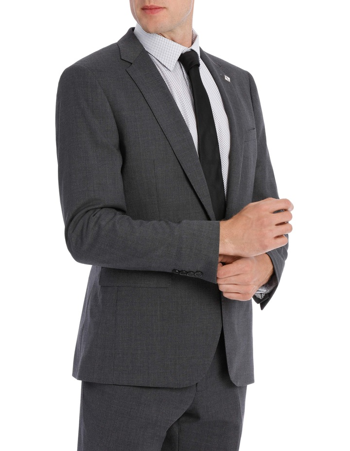 Grey Birdseye Suit Jacket 5Q7407 image 2