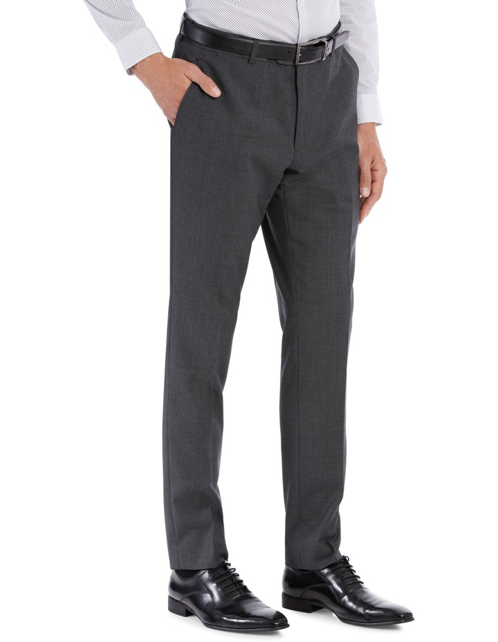 Grey Birdseye Suit Trouser image 3