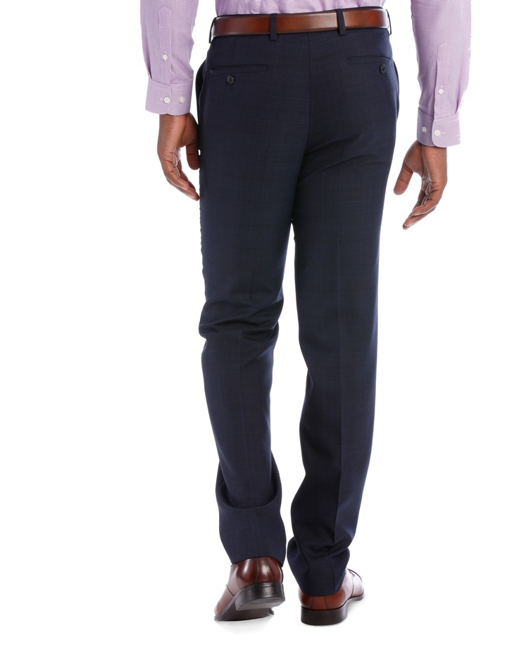 Wool Blend Suit Trouser Navy Check image 5