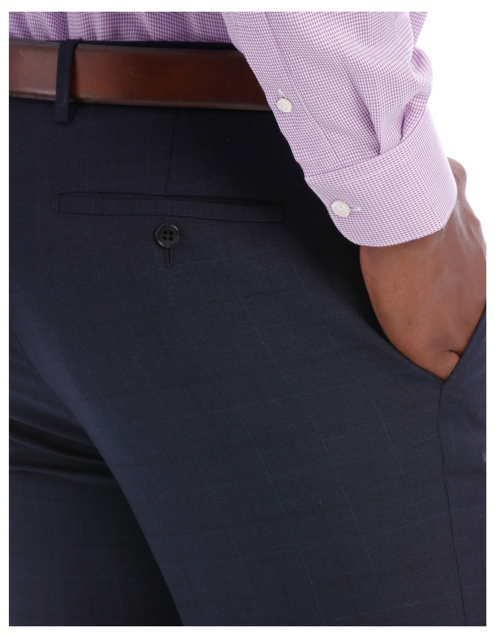 Wool Blend Suit Trouser Navy Check image 7