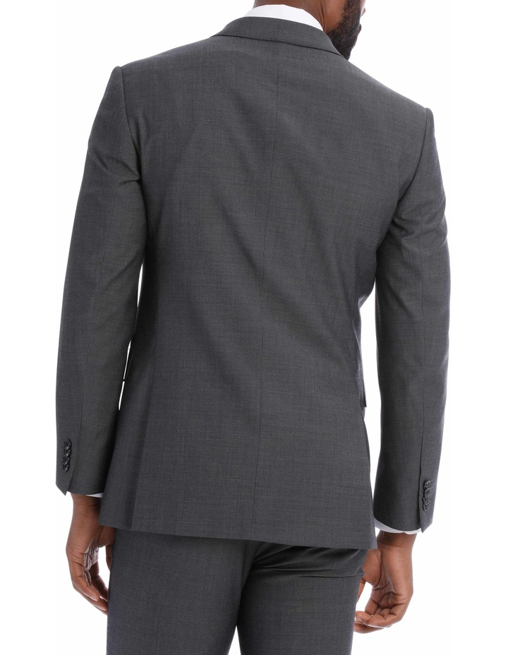 Textured Wool Blend Grey Suit Jacket image 5