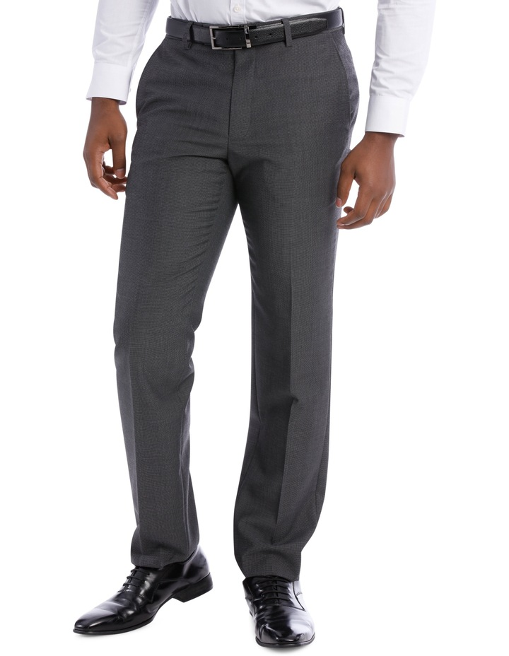 Textured Wool Blend Grey Suit Trouser image 1