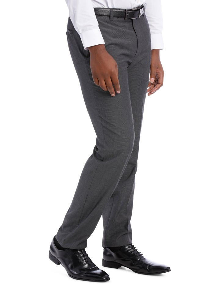 Textured Wool Blend Grey Suit Trouser image 3