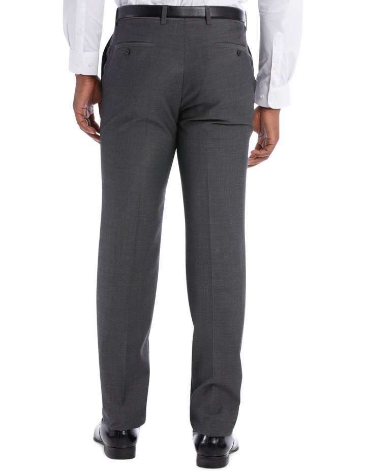 Textured Wool Blend Grey Suit Trouser image 5