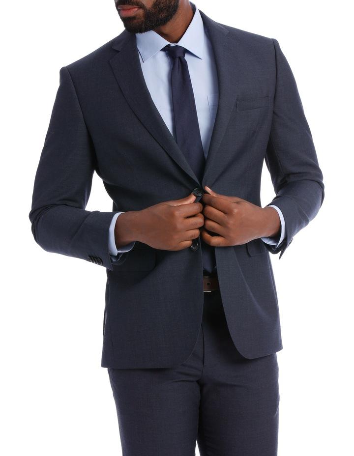 Wool Blend Suit Jacket Petrol Pindot image 1