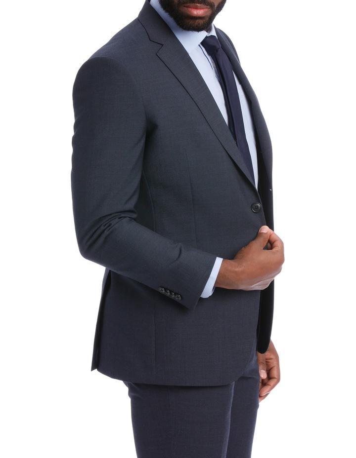 Wool Blend Suit Jacket Petrol Pindot image 3