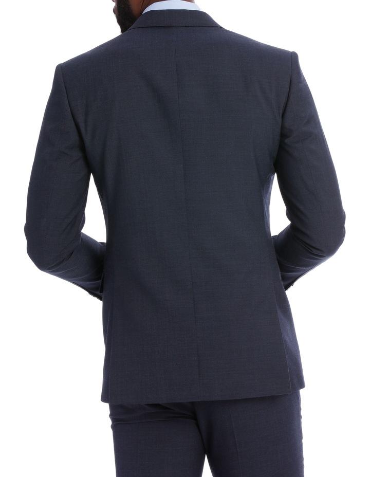 Wool Blend Suit Jacket Petrol Pindot image 5