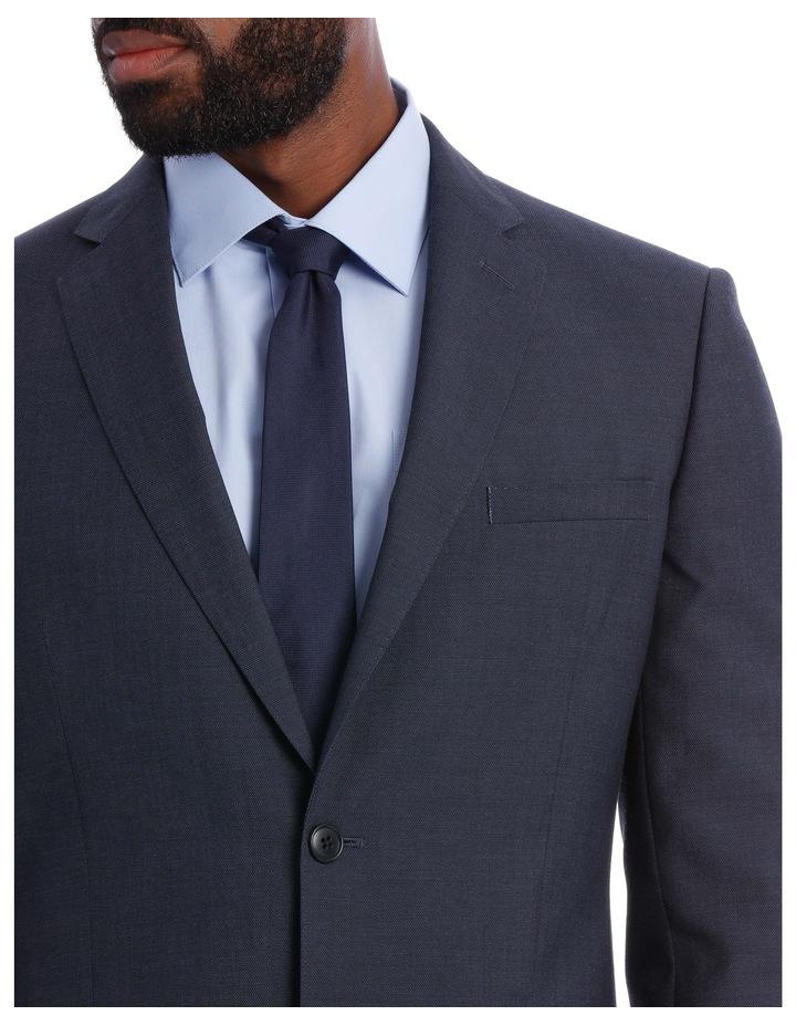 Wool Blend Suit Jacket Petrol Pindot image 7