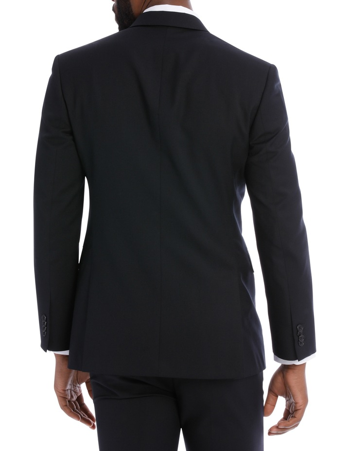 Black Pindot Wool Blend Suit Jacket image 5