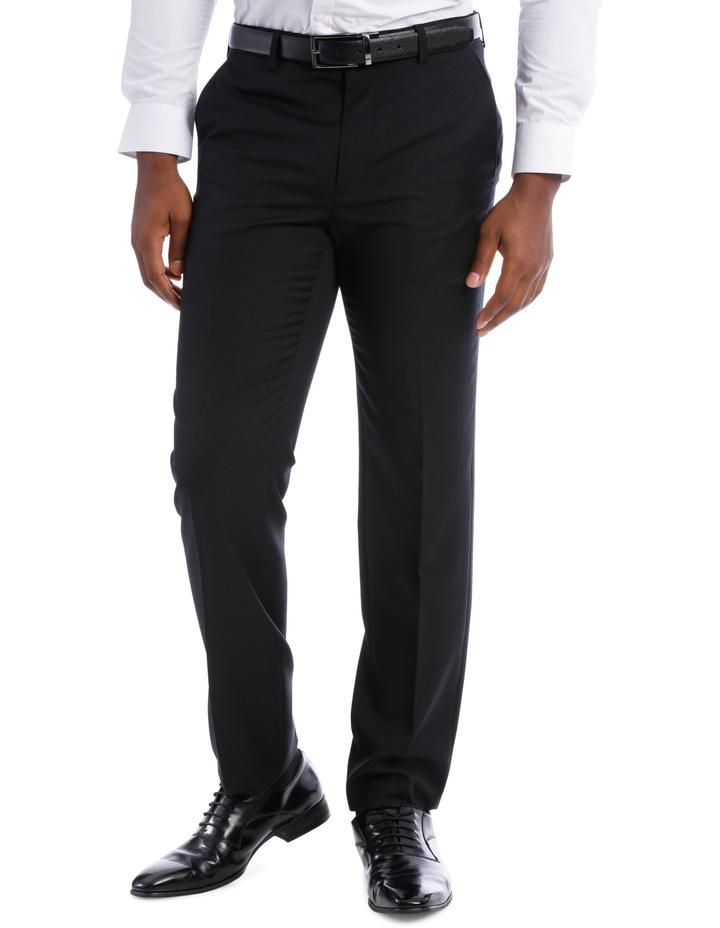 Black Pindot Wool Blend Suit Trouser image 1