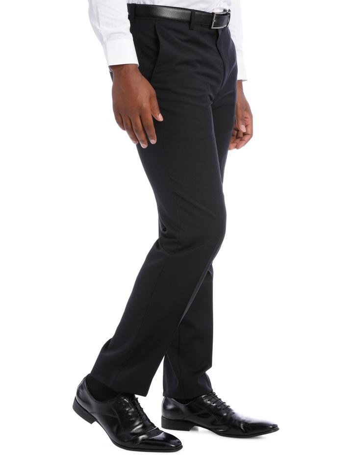 Black Pindot Wool Blend Suit Trouser image 3