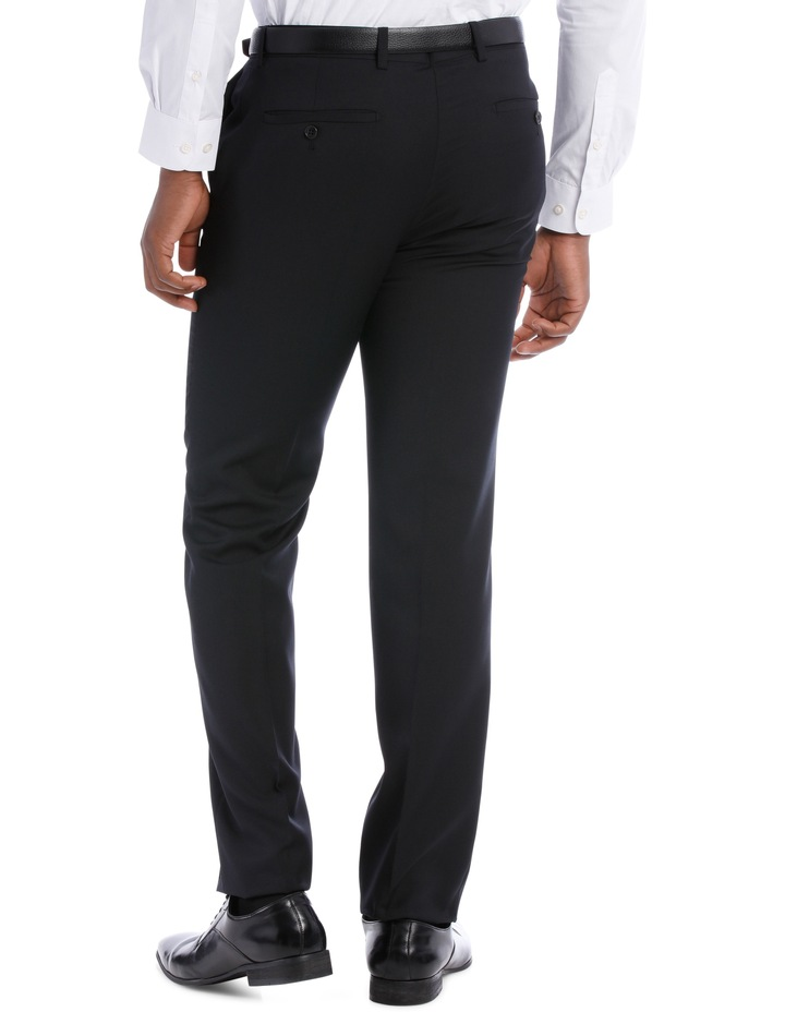 Black Pindot Wool Blend Suit Trouser image 5
