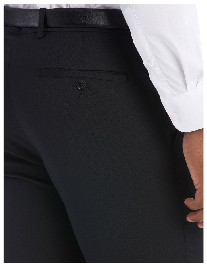 Black Pindot Wool Blend Suit Trouser image 7