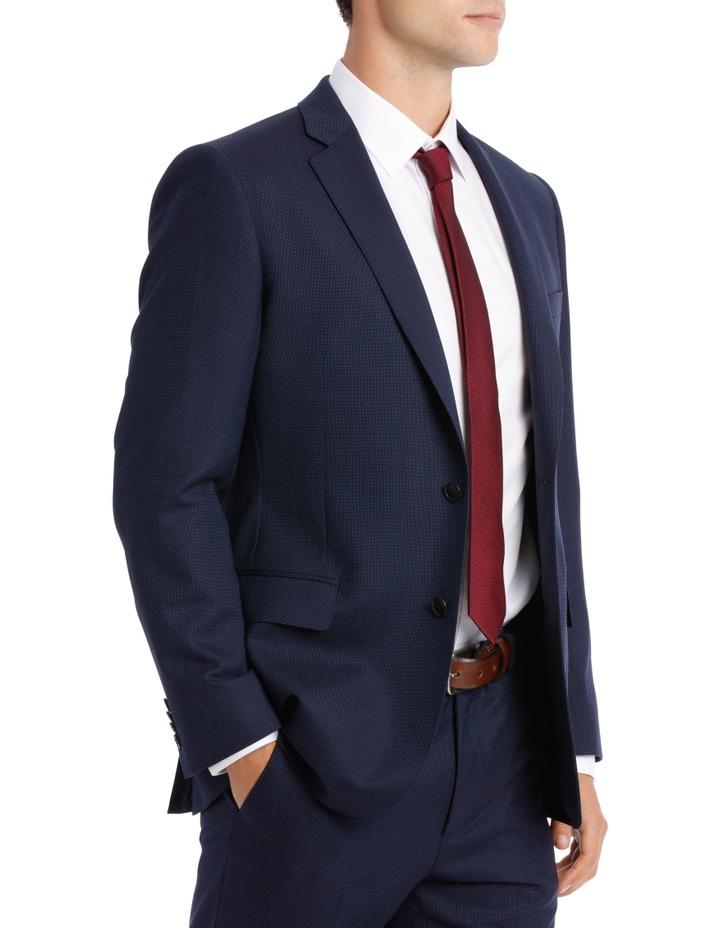 Navy Neat Suit Jacket image 3