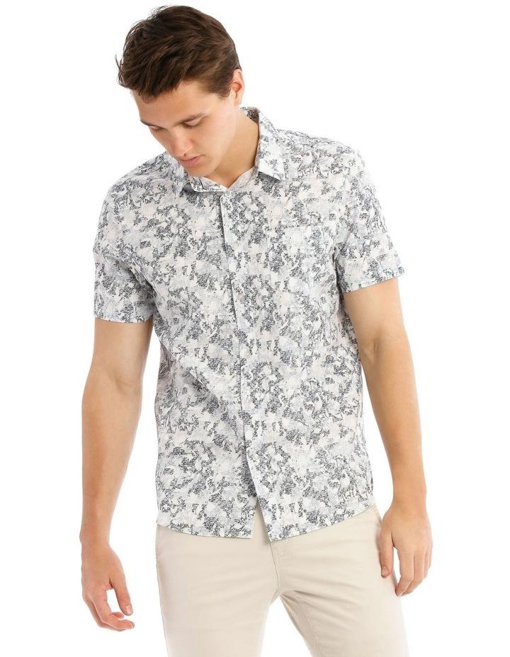Indigo Safari Short Sleeve Print Shirt image 1