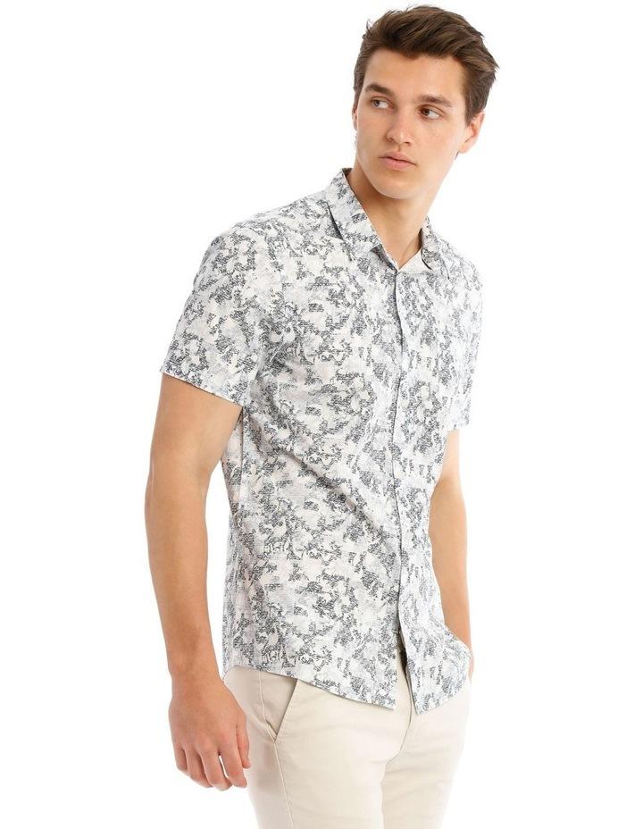 Indigo Safari Short Sleeve Print Shirt image 2