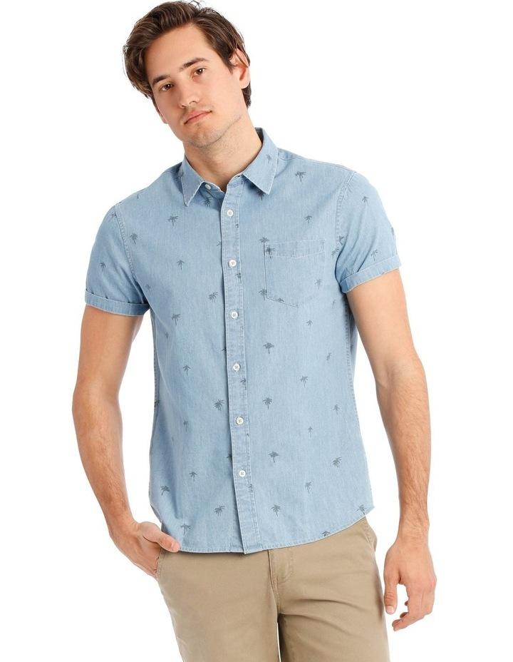 Sarabi Short Sleeve Denim Print Shirt image 1