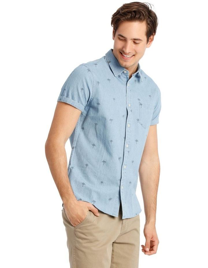 Sarabi Short Sleeve Denim Print Shirt image 2