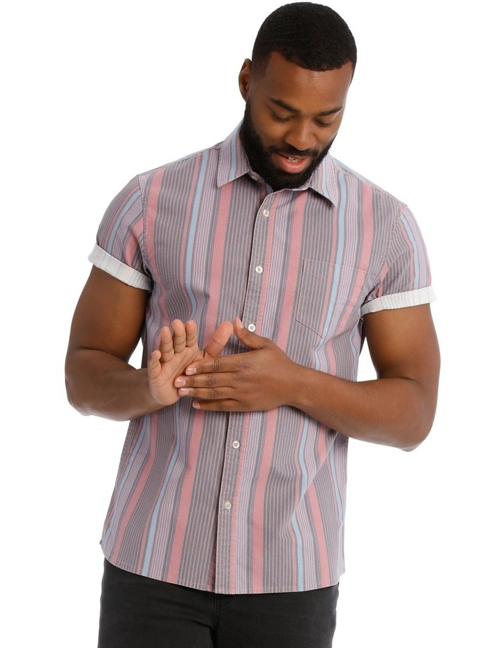 Beam Short Sleeve Stripe Shirt image 1