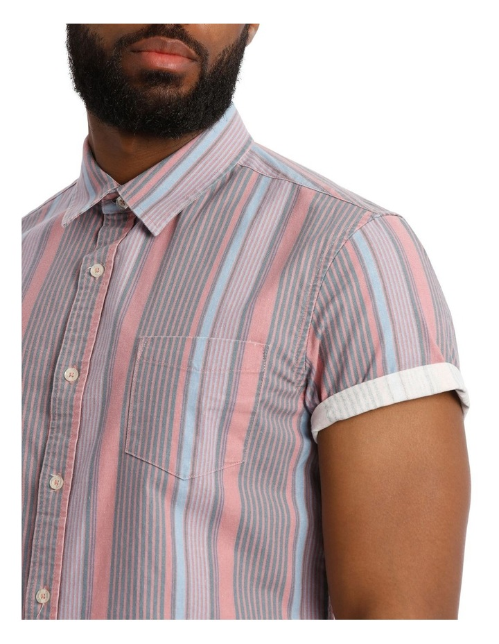 Beam Short Sleeve Stripe Shirt image 4