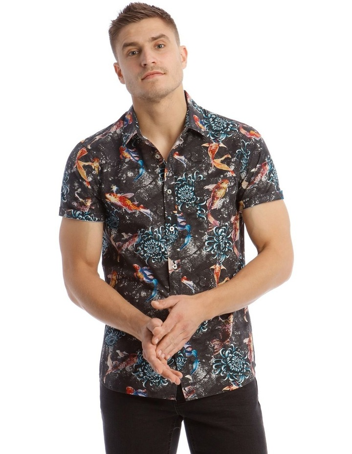 Jamaica Short Sleeve Resort Print Shirt image 1