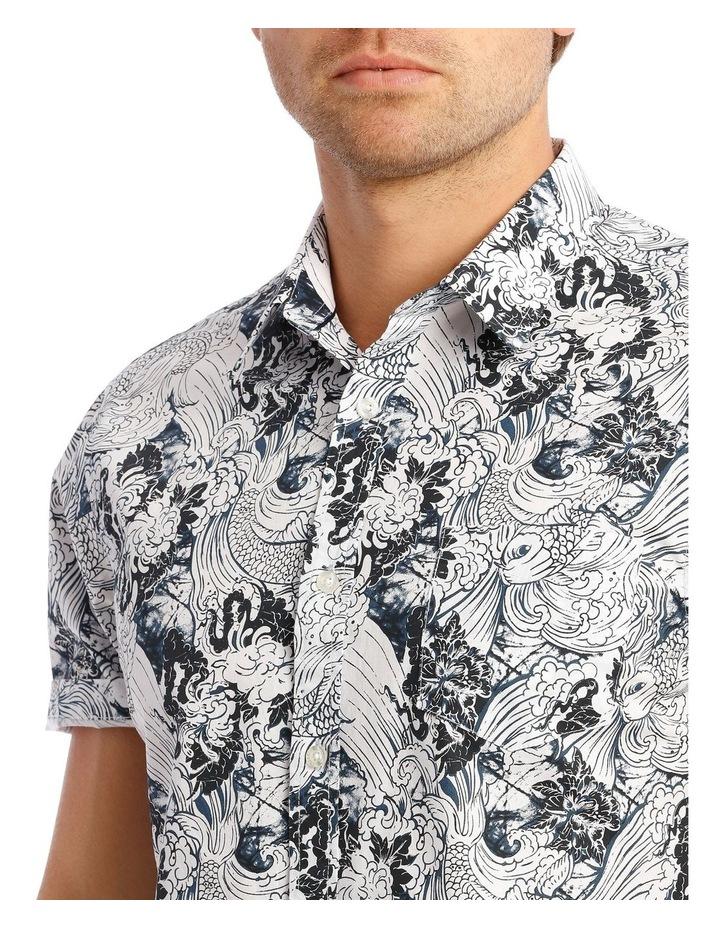 Indigo Koi Short Sleeve Print Shirt image 4