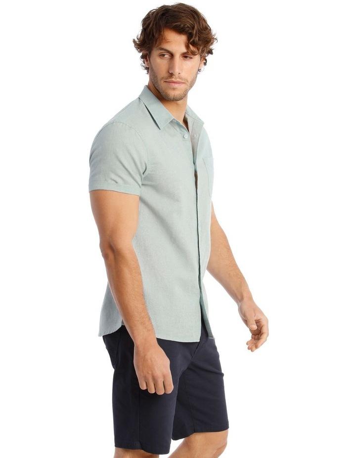 Somerset Short Sleeve Linen Shirt in Blue image 2
