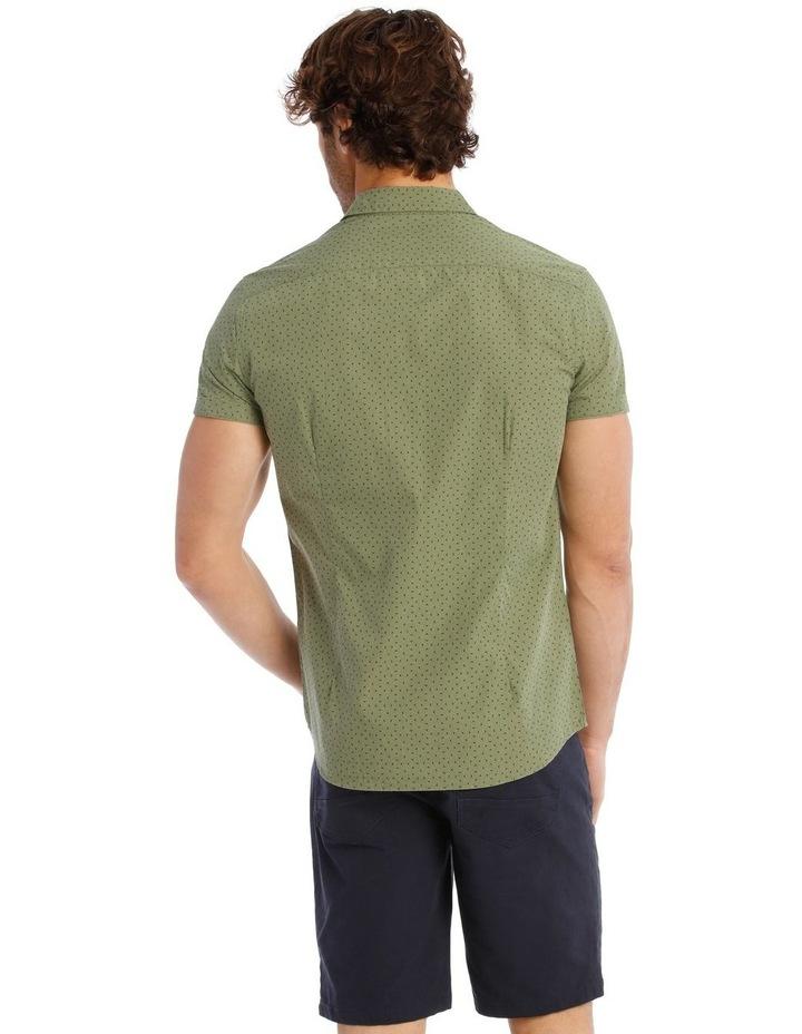 Bengal Short Sleeve Geo Print Shirt in Khaki image 3