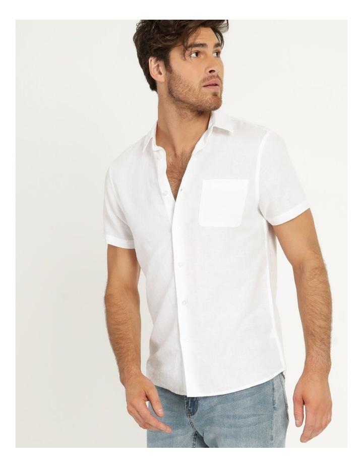 Lennon Linen Short Sleeve Shirt White image 2