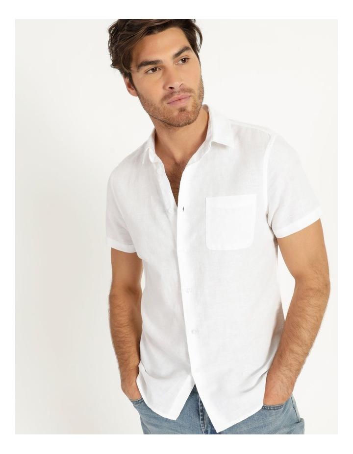 Lennon Linen Short Sleeve Shirt White image 4