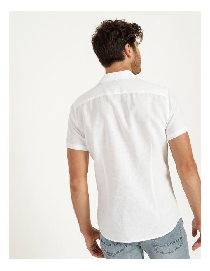 Lennon Linen Short Sleeve Shirt White image 5
