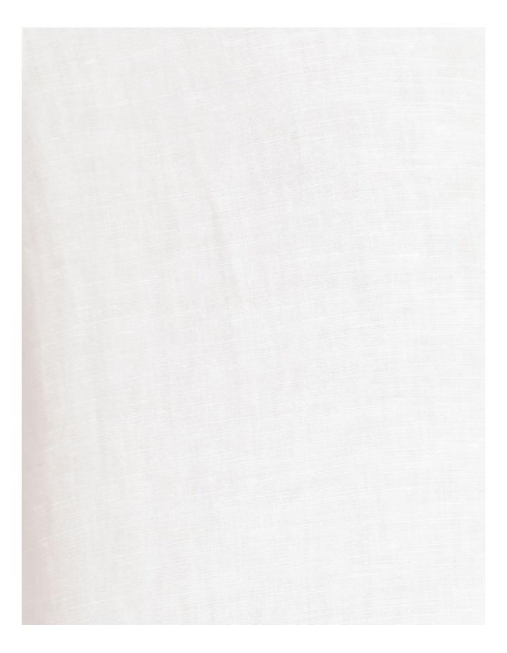 Lennon Linen Short Sleeve Shirt White image 7