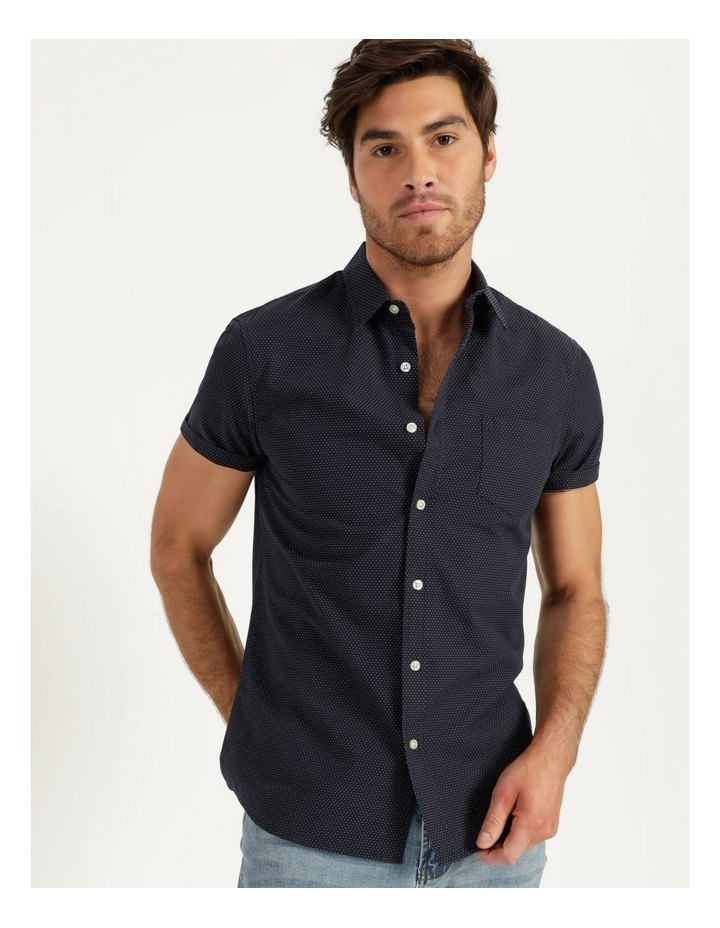Daltry Dobby Short Sleeve Shirt Navy image 1