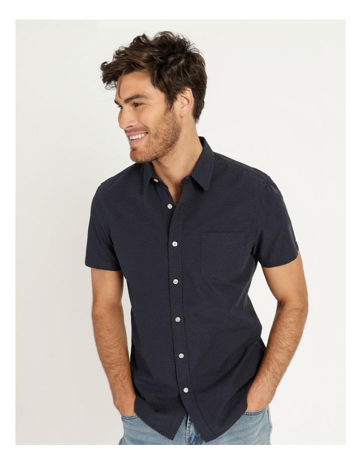 Daltry Dobby Short Sleeve Shirt Navy image 3
