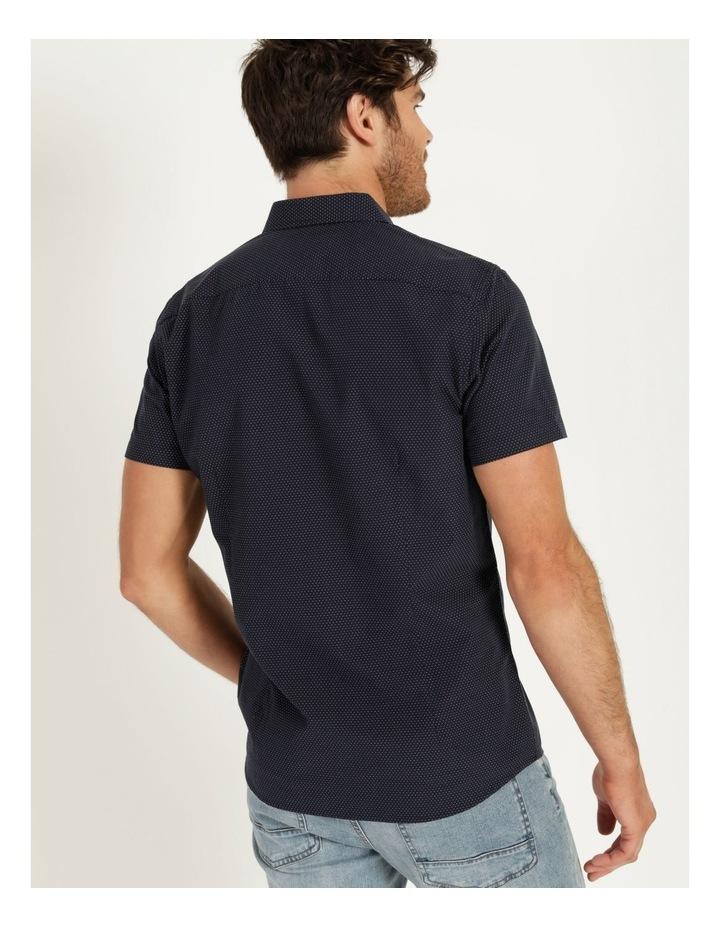 Daltry Dobby Short Sleeve Shirt Navy image 5