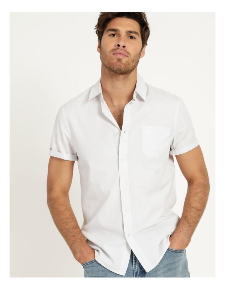 Daltry Dobby Short Sleeve Shirt White image 1