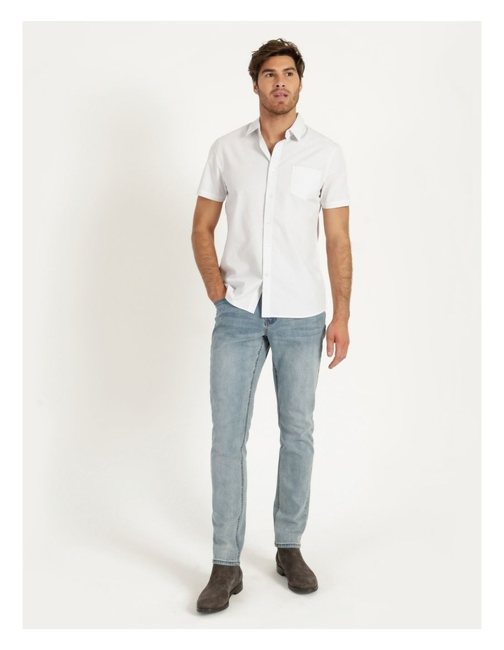 Daltry Dobby Short Sleeve Shirt White image 2