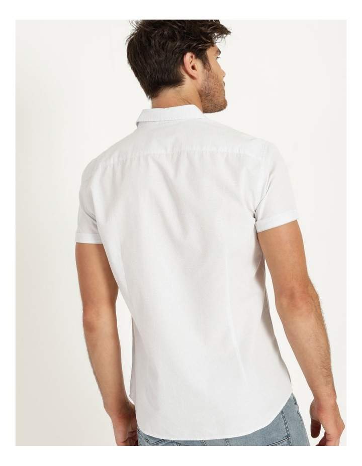 Daltry Dobby Short Sleeve Shirt White image 3