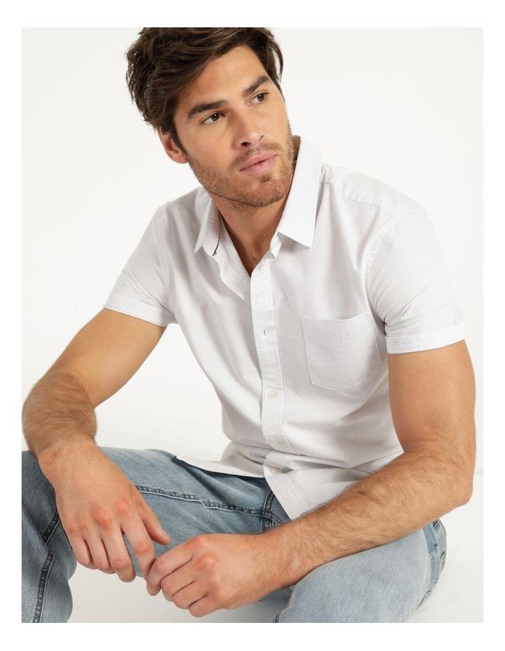 Daltry Dobby Short Sleeve Shirt White image 4