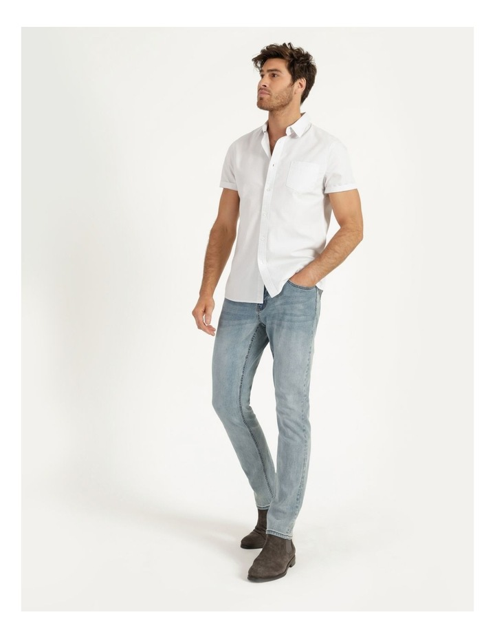 Daltry Dobby Short Sleeve Shirt White image 6