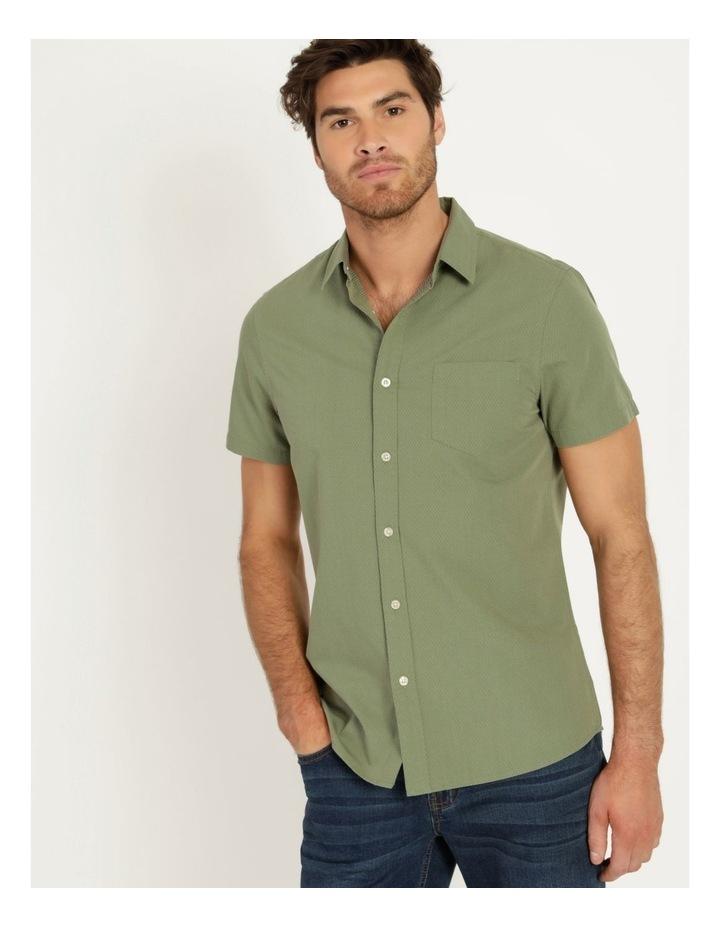 Daltry Dobby Short Sleeve Shirt Khaki image 1