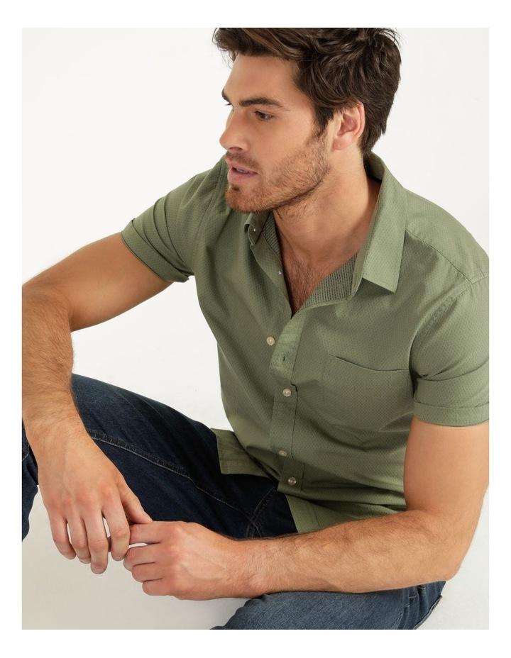 Daltry Dobby Short Sleeve Shirt Khaki image 2