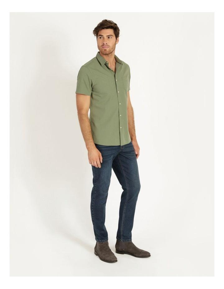 Daltry Dobby Short Sleeve Shirt Khaki image 3