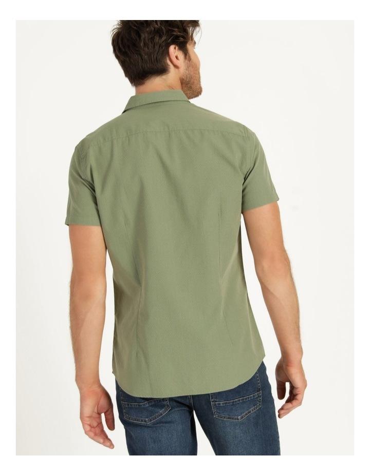 Daltry Dobby Short Sleeve Shirt Khaki image 4