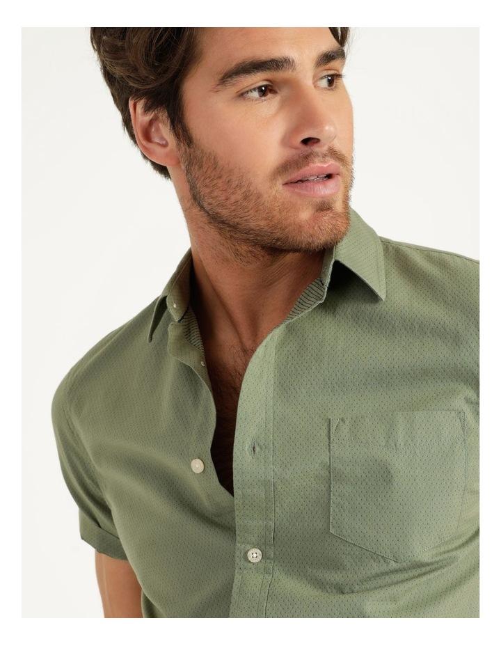 Daltry Dobby Short Sleeve Shirt Khaki image 6