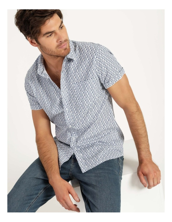 Pelican Print Short Sleeve Shirt White image 1