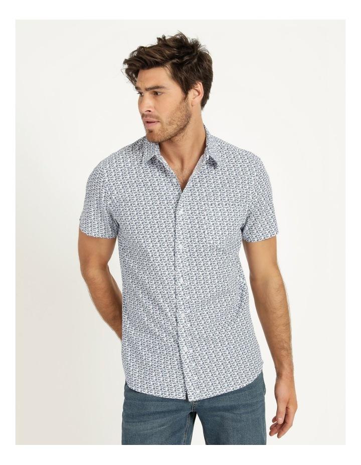 Pelican Print Short Sleeve Shirt White image 2